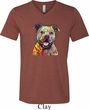 Beware of Pit Bulls Mens Tri Blend V-neck Shirt