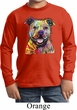 Beware of Pit Bulls They Will Steal Your Heart Kids Long Sleeve Shirt