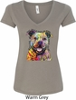 Beware of Pit Bulls They Will Steal Your Heart Ladies V-Neck Shirt