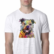 Beware of Pit Bulls They Will Steal Your Heart Mens Burnout Shirt