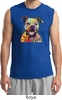 Beware of Pit Bulls They Will Steal Your Heart Mens Muscle Shirt
