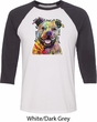 Beware of Pit Bulls They Will Steal Your Heart Mens Raglan Shirt
