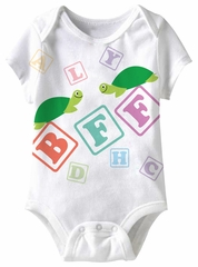 BFF Turtles Funny Baby Romper White Infant Babies Creeper