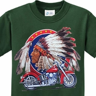 Big Chief Indian Motorcycle Kids Shirts