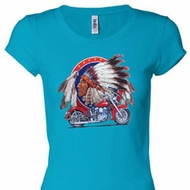 Big Chief Indian Motorcycle Ladies Shirts