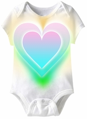 Big Colorful Heart Funny Baby Romper White Infant Babies Creeper
