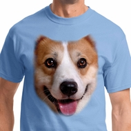 Big Corgi Face Mens Shirts