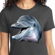 Big Dolphin Face Ladies Shirts