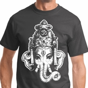 BIG Ganesha Head Mens Yoga Shirts