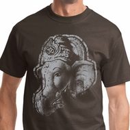 BIG Ganesha Profile Mens Yoga Shirts