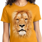 Big Lion Face Ladies Shirts