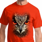 Big Owl Face Mens Shirts
