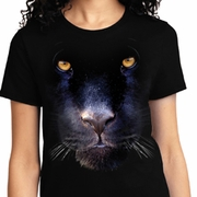 Big Panther Face Ladies Shirts