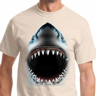 Big Shark Face Mens Shirts