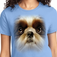 Big Shih Tzu Face Ladies Shirts