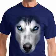 Big Siberian Husky Face Mens Shirts