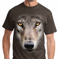 Big Wolf Face Mens Shirts