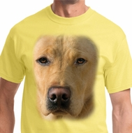 Big Yellow Lab Face Mens Shirts