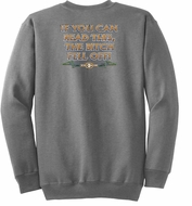 Biker Sweatshirt The Bitch Fell Off Adult Athletic Heather Sweat Shirt