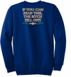 Biker Sweatshirt The Bitch Fell Off Adult Royal Sweat Shirt