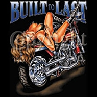 Biker T-shirt - Built to Last Adult Tee