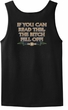 Biker Tank Top If You Can Read This, The Bitch Fell Off Black Tanktop