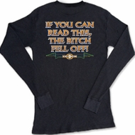 Biker Thermal Shirts If You Can Read This, The Bitch Fell Off Shirt