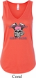 Bikers Against Breast Cancer Ladies Flowy V-neck Tanktop