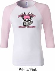 Bikers Against Breast Cancer Ladies Raglan Shirt
