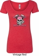 Bikers Against Breast Cancer Ladies Scoop Neck Shirt