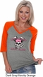 Bikers Against Breast Cancer Ladies Three Quarter Sleeve V-Neck Raglan