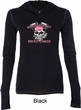 Bikers Against Breast Cancer Ladies Tri Blend Hoodie Shirt