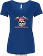 Bikers Against Breast Cancer Ladies V-Neck Shirt