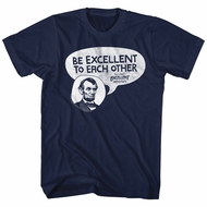 Bill And Ted Shirt Be Excellent Navy Blue T-Shirt