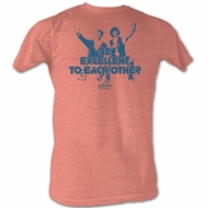 Bill And Ted Shirt Be Excellent Pink Heather Tee T-Shirt