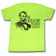 Bill And Ted Shirt Be Excellentabe Neon Yellow Tee T-Shirt