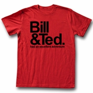 Bill And Ted Shirt BNT Red Tee T-Shirt