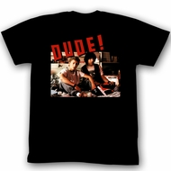 Bill And Ted Shirt Dude! Black Tee T-Shirt