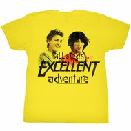 Bill And Ted Shirt Dudes Yellow Tee T-Shirt