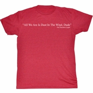 Bill And Ted Shirt Dust Red Heather Tee T-Shirt