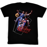 Bill And Ted Shirt Flying Black Tee T-Shirt