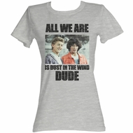 Bill And Ted Shirt Juniors Dustin T. Wind Athletic Heather T-Shirt