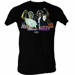 Bill And Ted Shirt Light Show Black Tee T-Shirt