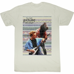 Bill And Ted Shirt Rockin Out Natural Tee T-Shirt