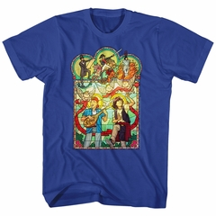 Bill And Ted Shirt Stained Glass Royal Blue T-Shirt