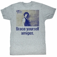 Bill And Ted Shirt Ted Brace Yourself Grey Tee T-Shirt
