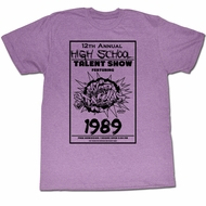 Bill And Ted Shirt The Talent Show Heather Purple Tee T-Shirt