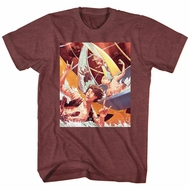 Bill And Ted Shirt Water Slide Maroon Heather T-Shirt