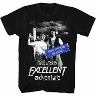 Bill And Ted Shirt You Should Be Here Black T-Shirt