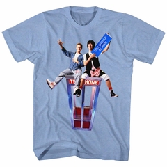 Bill And Ted Shirt You Should Be Here Light Blue T-Shirt